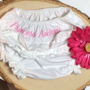"""Other - 🥂 """"Princess Audrey"""" Embroidered Ruffled Bloomers"""